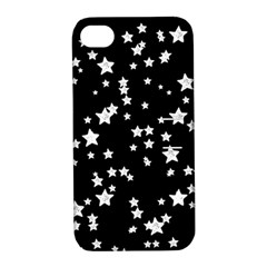 Black And White Starry Pattern Apple Iphone 4/4s Hardshell Case With Stand by DanaeStudio