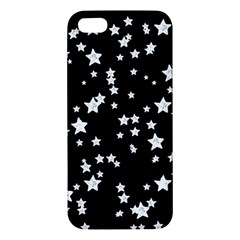 Black And White Starry Pattern Apple Iphone 5 Premium Hardshell Case by DanaeStudio