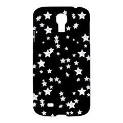 Black And White Starry Pattern Samsung Galaxy S4 I9500/i9505 Hardshell Case by DanaeStudio