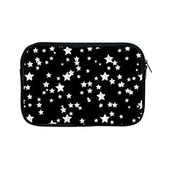 Black And White Starry Pattern Apple Ipad Mini Zipper Cases by DanaeStudio