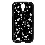 Black And White Starry Pattern Samsung Galaxy S4 I9500/ I9505 Case (Black)