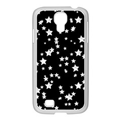 Black And White Starry Pattern Samsung Galaxy S4 I9500/ I9505 Case (white) by DanaeStudio
