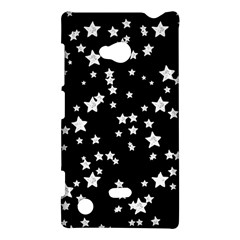 Black And White Starry Pattern Nokia Lumia 720 by DanaeStudio