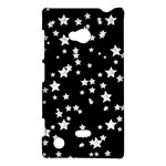 Black And White Starry Pattern Nokia Lumia 720