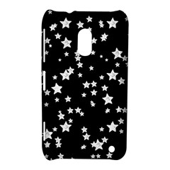 Black And White Starry Pattern Nokia Lumia 620 by DanaeStudio