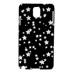 Black And White Starry Pattern Samsung Galaxy Note 3 N9005 Hardshell Case by DanaeStudio