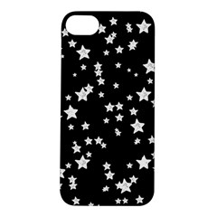 Black And White Starry Pattern Apple Iphone 5s/ Se Hardshell Case by DanaeStudio