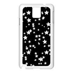Black And White Starry Pattern Samsung Galaxy Note 3 N9005 Case (white) by DanaeStudio
