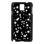 Black And White Starry Pattern Samsung Galaxy Note 3 N9005 Case (Black)