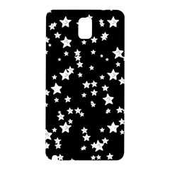 Black And White Starry Pattern Samsung Galaxy Note 3 N9005 Hardshell Back Case by DanaeStudio