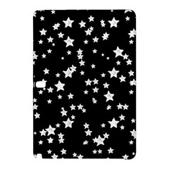 Black And White Starry Pattern Samsung Galaxy Tab Pro 12 2 Hardshell Case by DanaeStudio