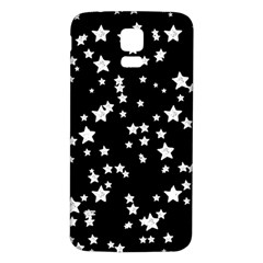 Black And White Starry Pattern Samsung Galaxy S5 Back Case (white) by DanaeStudio