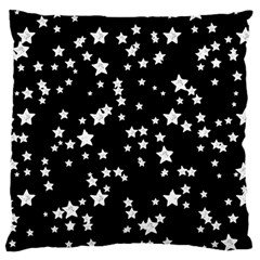 Black And White Starry Pattern Large Flano Cushion Case (two Sides) by DanaeStudio