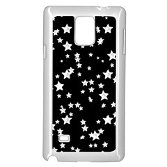 Black And White Starry Pattern Samsung Galaxy Note 4 Case (white) by DanaeStudio