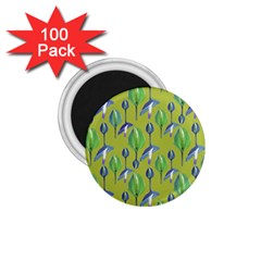 Tropical Floral Pattern 1 75  Magnets (100 Pack)  by dflcprints