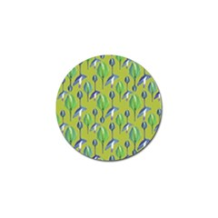Tropical Floral Pattern Golf Ball Marker (4 Pack) by dflcprints
