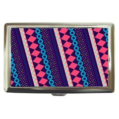 Purple And Pink Retro Geometric Pattern Cigarette Money Cases by DanaeStudio