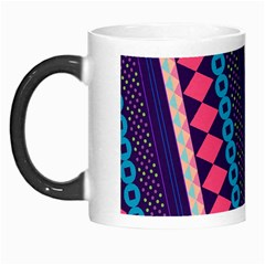 Purple And Pink Retro Geometric Pattern Morph Mugs by DanaeStudio