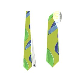 Tropical Floral Pattern Neckties (Two Side)  by dflcprints