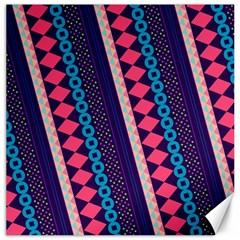 Purple And Pink Retro Geometric Pattern Canvas 12  X 12   by DanaeStudio