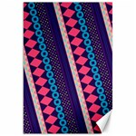 Purple And Pink Retro Geometric Pattern Canvas 20  x 30