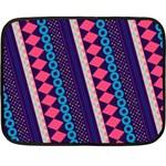 Purple And Pink Retro Geometric Pattern Double Sided Fleece Blanket (Mini)