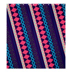 Purple And Pink Retro Geometric Pattern Shower Curtain 66  X 72  (large)  by DanaeStudio