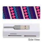 Purple And Pink Retro Geometric Pattern Memory Card Reader (Stick)