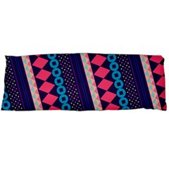 Purple And Pink Retro Geometric Pattern Body Pillow Case (dakimakura) by DanaeStudio