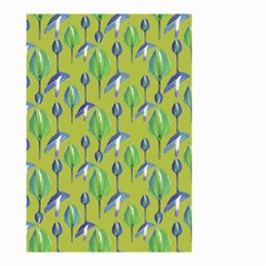 Tropical Floral Pattern Small Garden Flag (Two Sides) by dflcprints