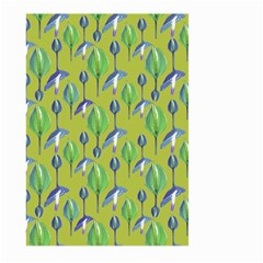 Tropical Floral Pattern Large Garden Flag (two Sides) by dflcprints