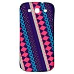 Purple And Pink Retro Geometric Pattern Samsung Galaxy S3 S III Classic Hardshell Back Case