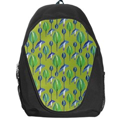 Tropical Floral Pattern Backpack Bag by dflcprints