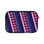 Purple And Pink Retro Geometric Pattern Apple iPad Mini Zipper Cases