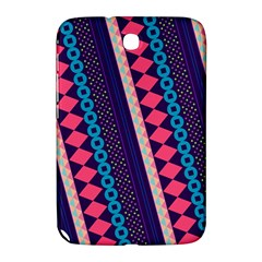 Purple And Pink Retro Geometric Pattern Samsung Galaxy Note 8 0 N5100 Hardshell Case  by DanaeStudio