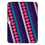 Purple And Pink Retro Geometric Pattern Samsung Galaxy Tab 3 (10.1 ) P5200 Hardshell Case