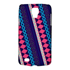 Purple And Pink Retro Geometric Pattern Galaxy S4 Active by DanaeStudio