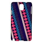 Purple And Pink Retro Geometric Pattern Samsung Galaxy Note 3 N9005 Hardshell Case