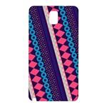 Purple And Pink Retro Geometric Pattern Samsung Galaxy Note 3 N9005 Hardshell Back Case