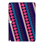 Purple And Pink Retro Geometric Pattern Samsung Galaxy Tab Pro 12.2 Hardshell Case