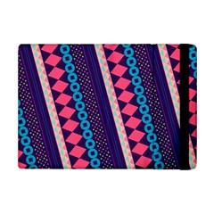 Purple And Pink Retro Geometric Pattern Ipad Mini 2 Flip Cases by DanaeStudio
