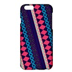 Purple And Pink Retro Geometric Pattern Apple iPhone 6 Plus/6S Plus Hardshell Case