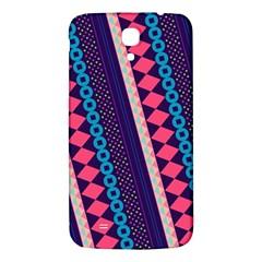 Purple And Pink Retro Geometric Pattern Samsung Galaxy Mega I9200 Hardshell Back Case by DanaeStudio