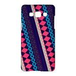 Purple And Pink Retro Geometric Pattern Samsung Galaxy A5 Hardshell Case