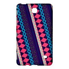 Purple And Pink Retro Geometric Pattern Samsung Galaxy Tab 4 (7 ) Hardshell Case  by DanaeStudio