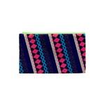 Purple And Pink Retro Geometric Pattern Cosmetic Bag (XS)
