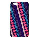 Purple And Pink Retro Geometric Pattern iPhone 6 Plus/6S Plus TPU Case