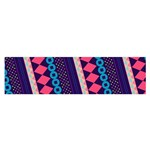 Purple And Pink Retro Geometric Pattern Satin Scarf (Oblong)