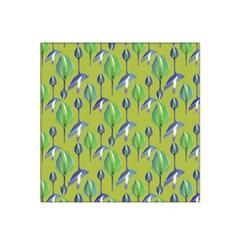 Tropical Floral Pattern Satin Bandana Scarf by dflcprints