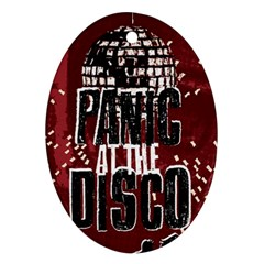 Panic At The Disco Poster Ornament (oval)  by Onesevenart